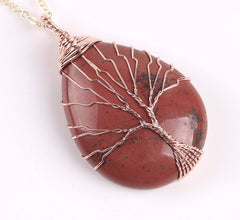 Red Jasper Tree of Life Wire Wrapped necklace