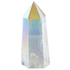Angel aura rainbow quartz geode, healing crystal decor, points
