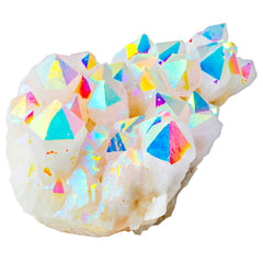 Angel aura rainbow quartz geode, decor, points