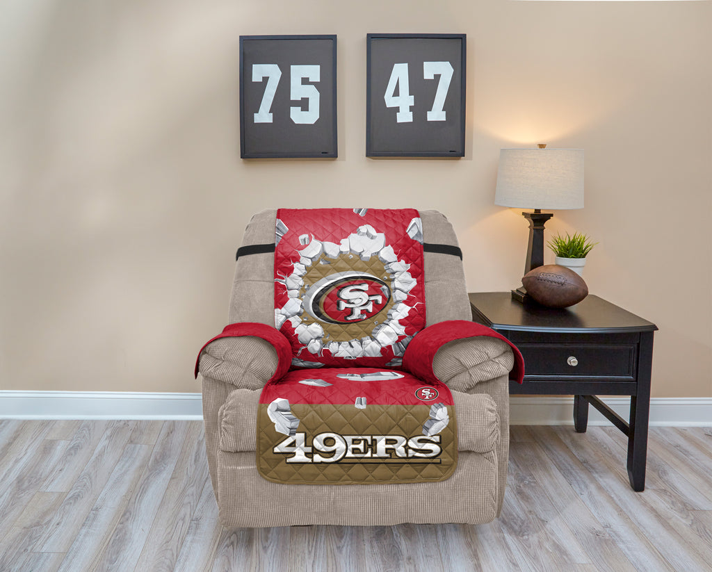 San Francisco 49ers Explosion Furniture Protector with Elastic Straps