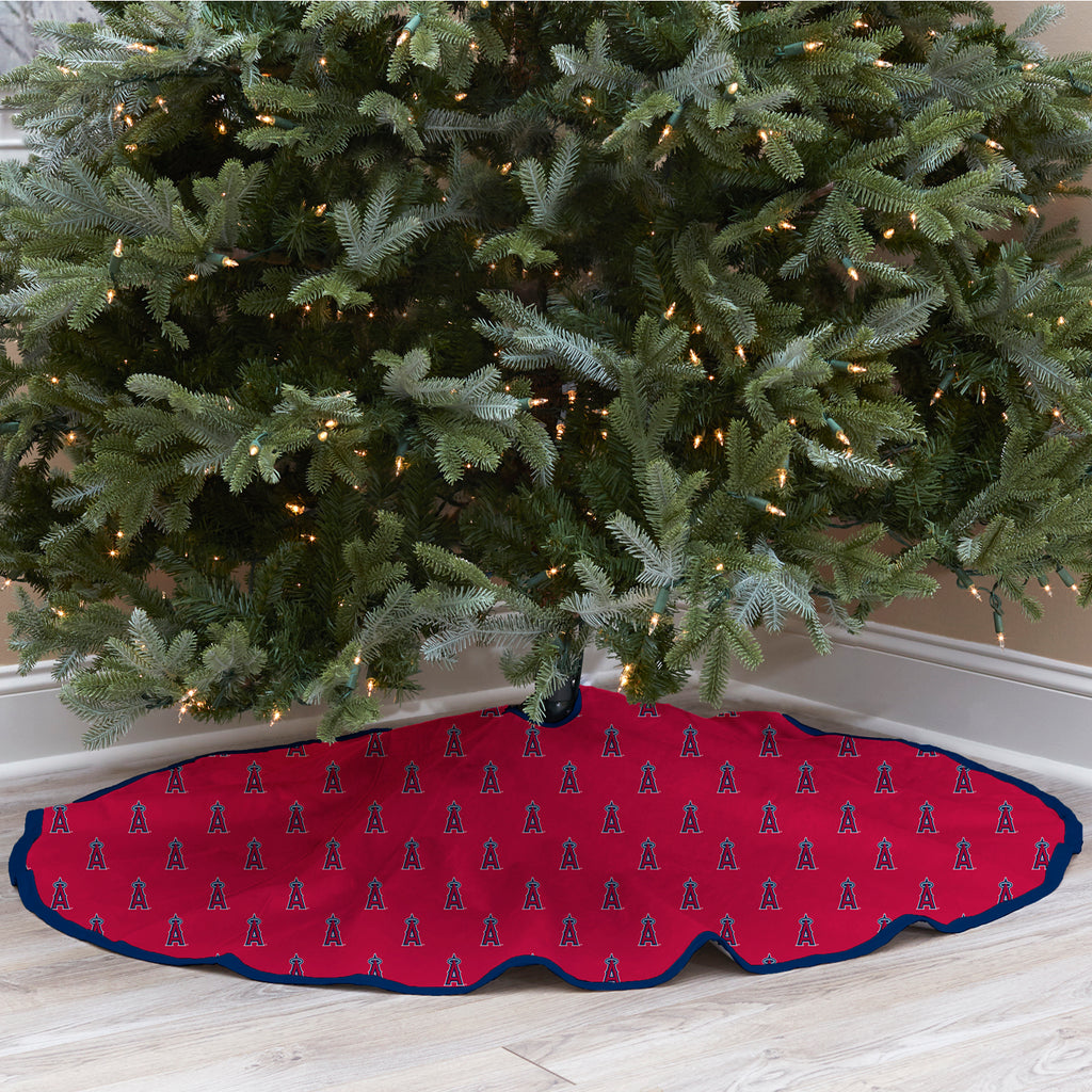 Los Angeles Angels Christmas Tree Skirt