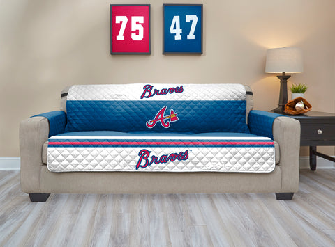 Atlanta Braves Furniture Protector with Elastic Straps