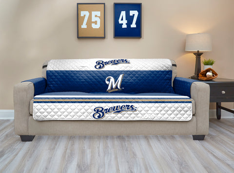 Milwaukee Brewers Furniture Protector with Elastic Straps