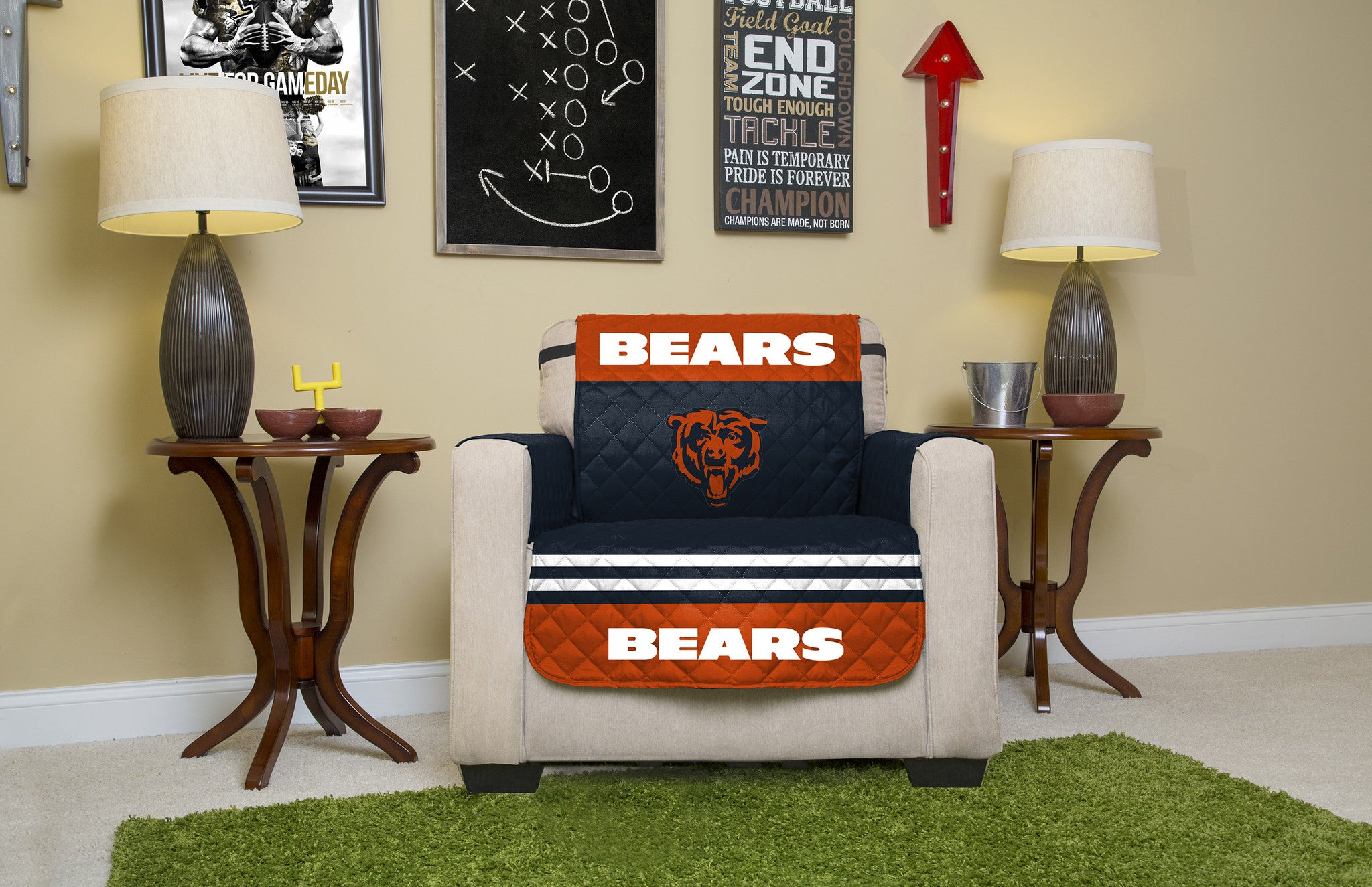 Chicago Bears Furniture Protectors with Elastic Straps Pegasus