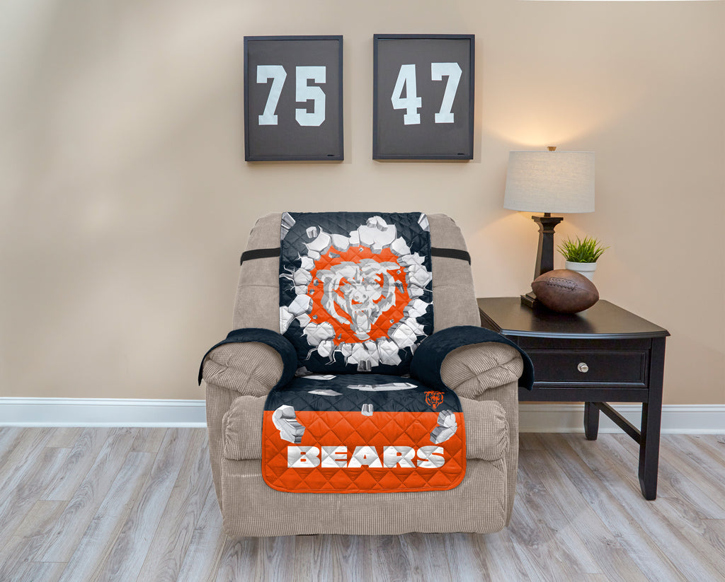 Chicago Bears Explosion Furniture Protector With Elastic Straps