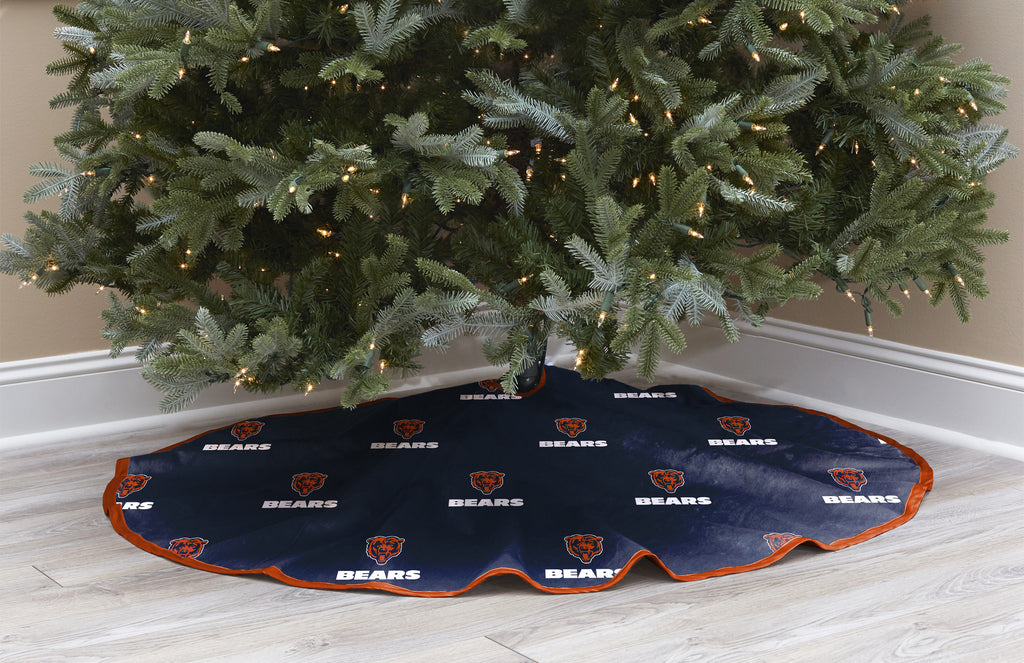 Chicago Bears Christmas Tree Skirt