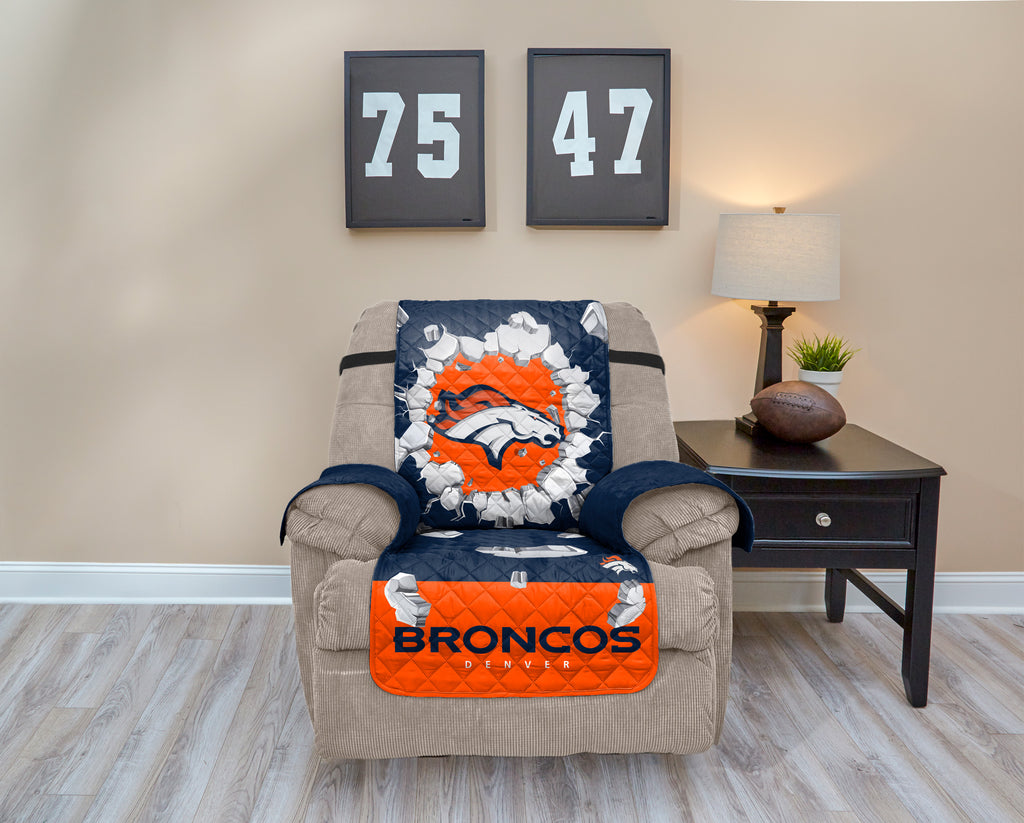 Denver Broncos Explosion Furniture Protector with Elastic Straps