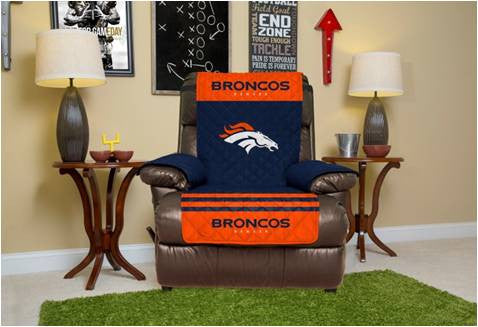 Denver Broncos Furniture Protectors with Elastic Straps