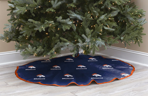Denver Broncos Christmas Tree Skirt