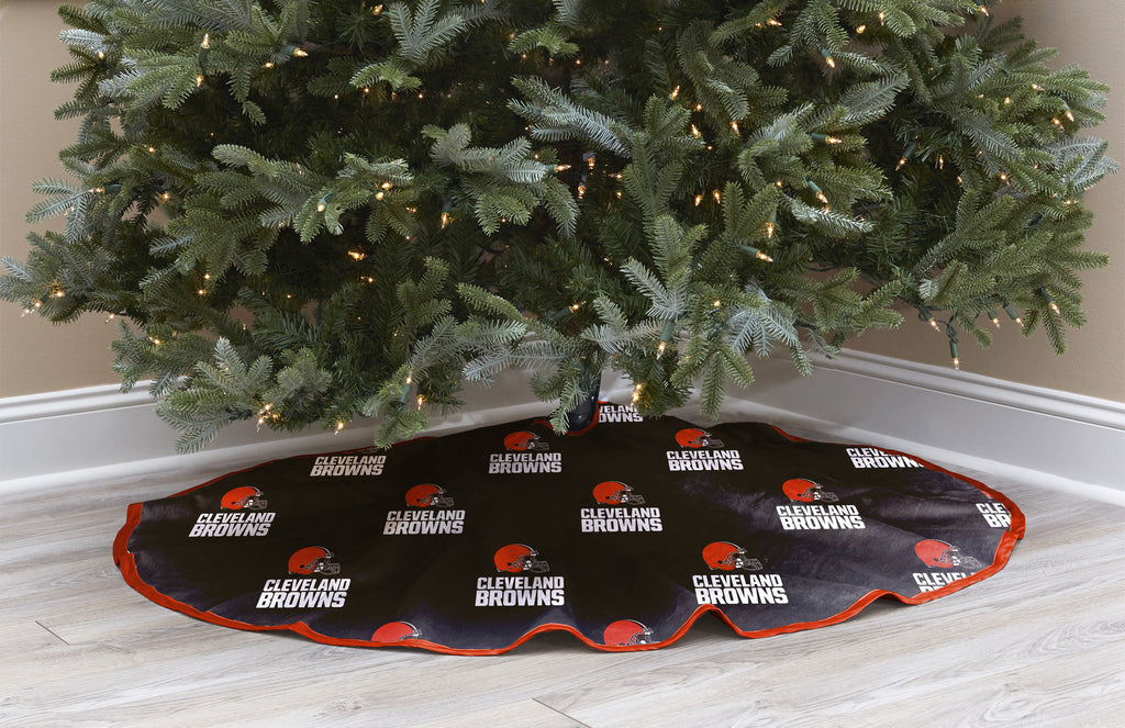 Cleveland Browns Christmas Tree Skirt