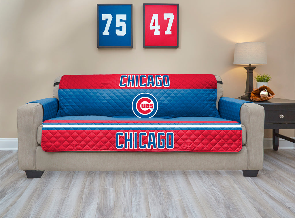 Chicago Cubs Furniture Protector with Elastic Straps