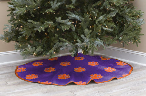 Clemson University Christmas Tree Skirt