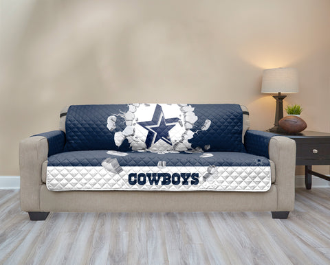 Dallas Cowboys Explosion Furniture Protector with Elastic Straps