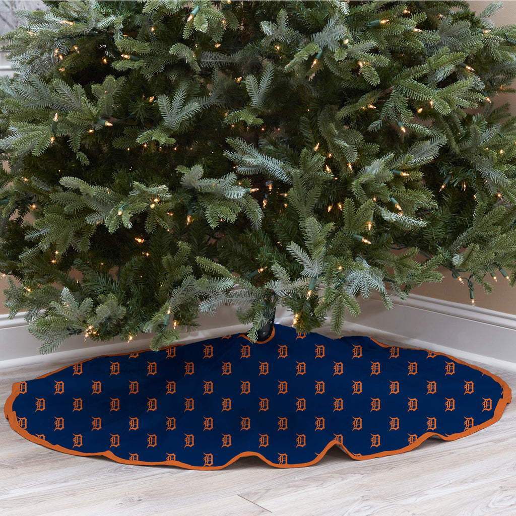Detroit Tigers Christmas Tree Skirt