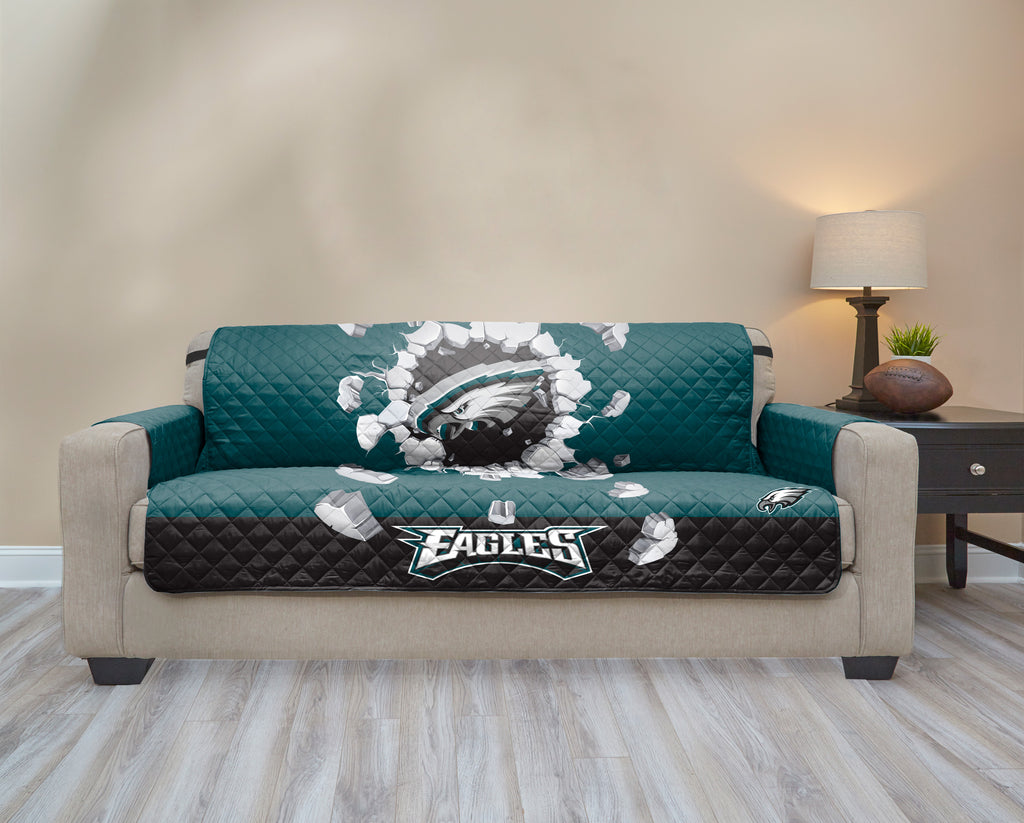 Philadelphia Eagles Explosion Furniture Protector With Elastic Straps.  Images / 1 / 2