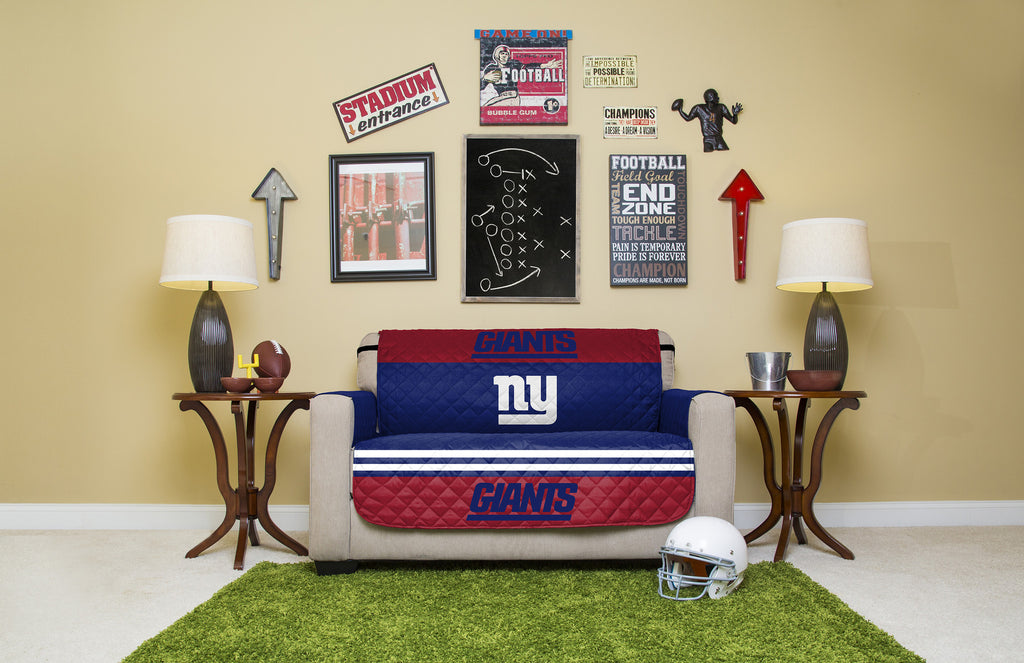 New York Giants Furniture Protectors With Elastic Straps. Images / 1 / 2 /  3 / 4