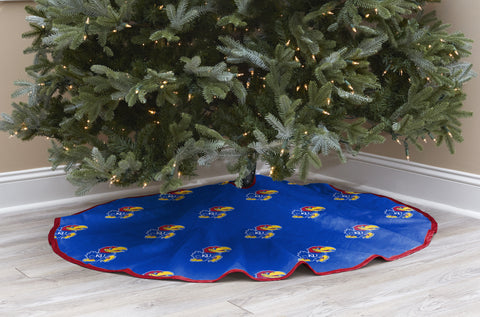 University of Kansas Christmas Tree Skirt