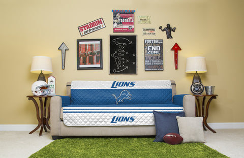 Detroit Lions Furniture Protectors with Elastic Straps