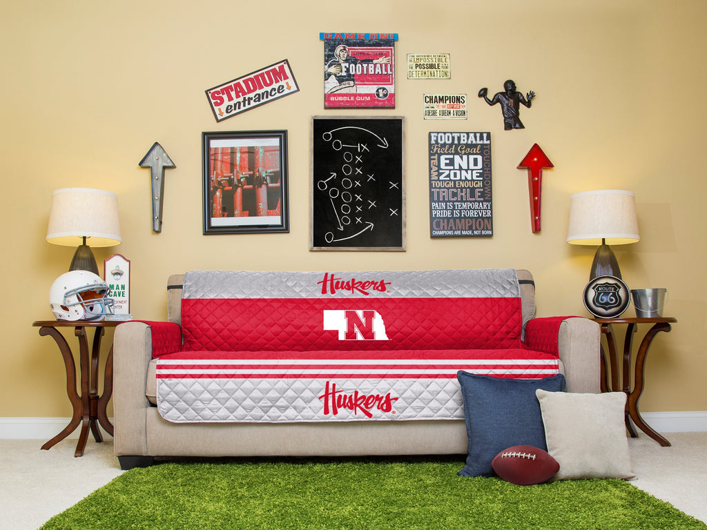 University of Nebraska Furniture Protector with Elastic Straps