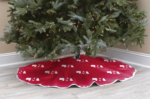 University of Nebraska Christmas Tree Skirt
