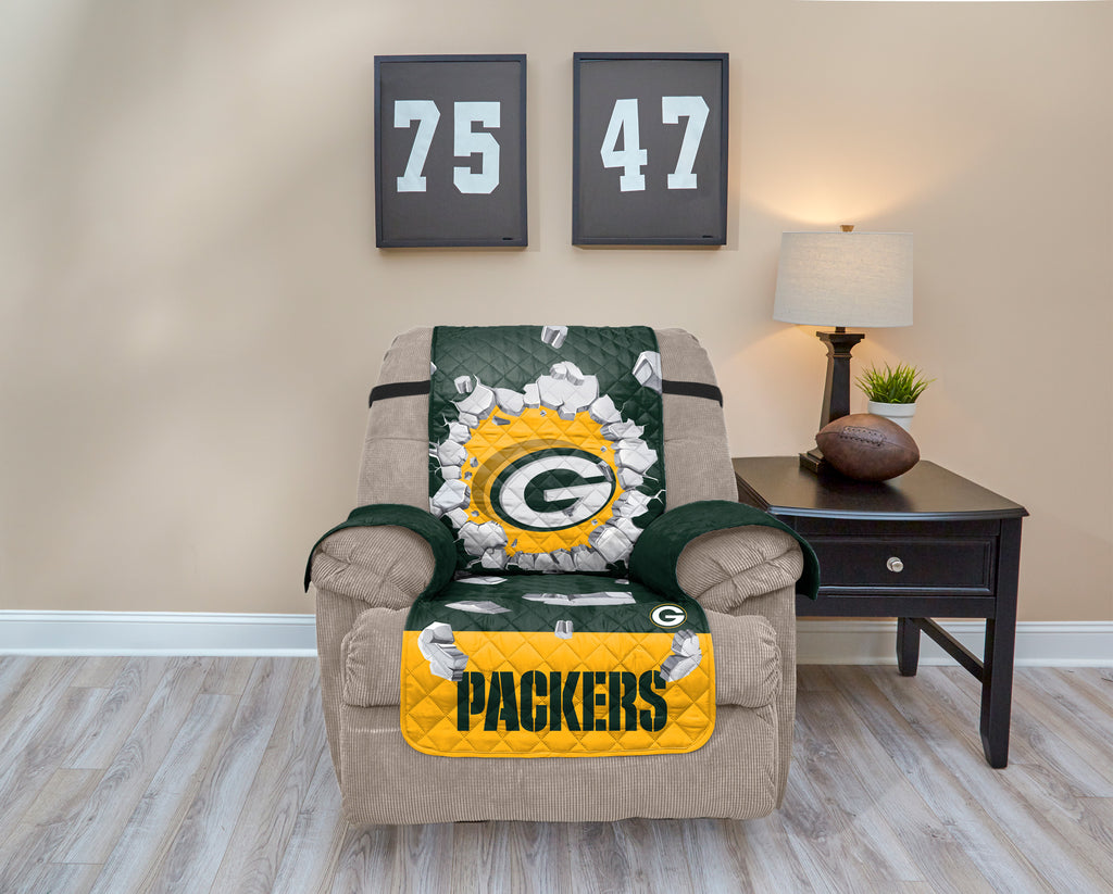 Green Bay Packers Explosion Furniture Protector with Elastic Straps