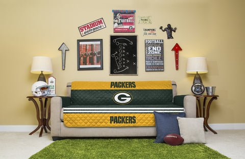 Green Bay Packers Furniture Protectors with Elastic Straps