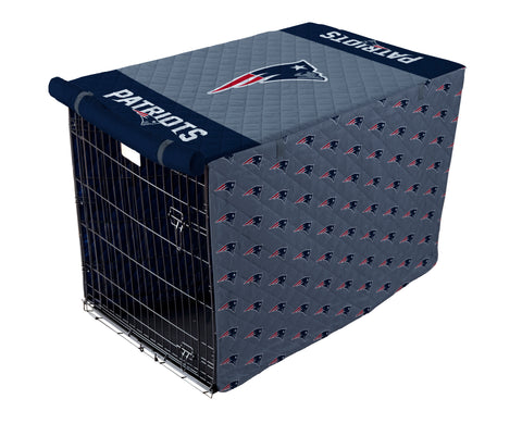 New England Patriots Pet Crate Cover