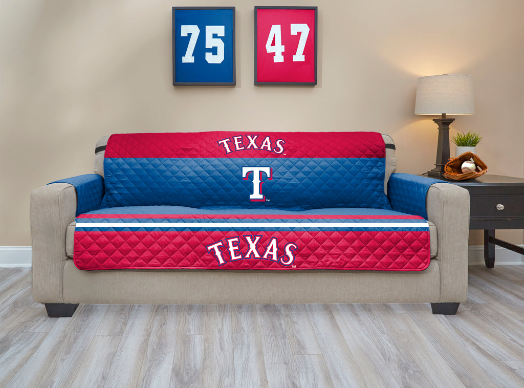 Texas Rangers Furniture Protector with Elastic Straps