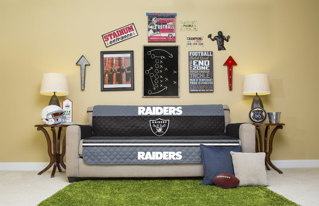 Oakland Raiders Furniture Protectors With Elastic Straps. Images / 1 / 2 ...
