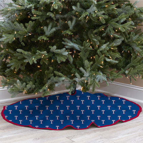 Texas Rangers Christmas Tree Skirt
