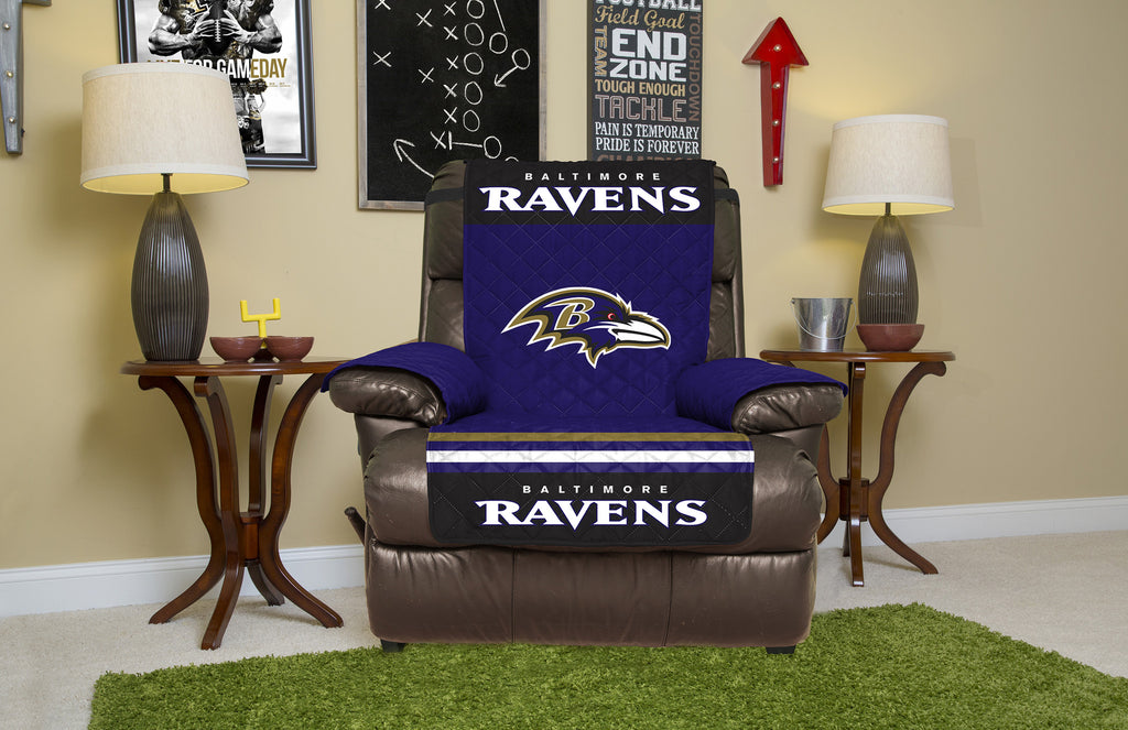 Attractive Baltimore Ravens Furniture Protectors With Elastic Straps