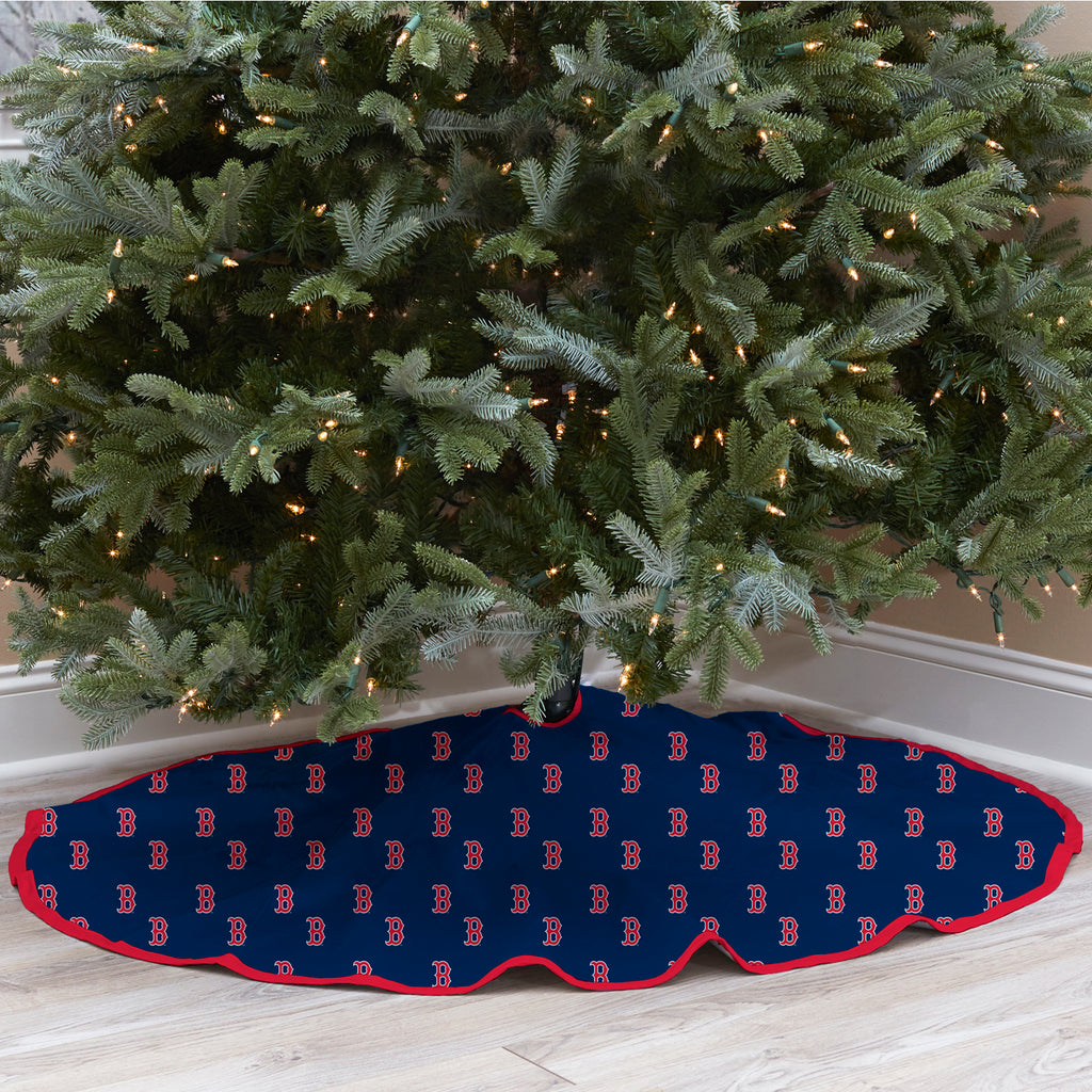 Boston Red Sox Christmas Tree Skirt