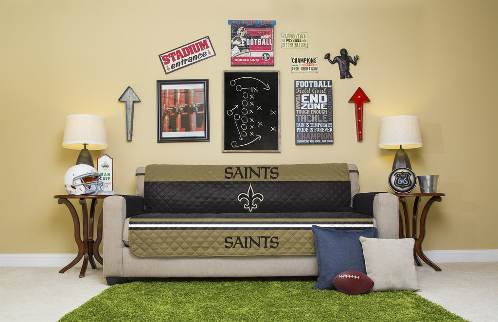 Merveilleux New Orleans Saints Furniture Protectors With Elastic Straps