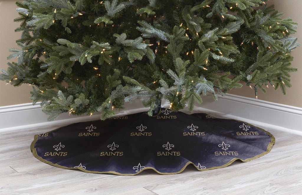 New Orleans Saints Christmas Tree Skirt