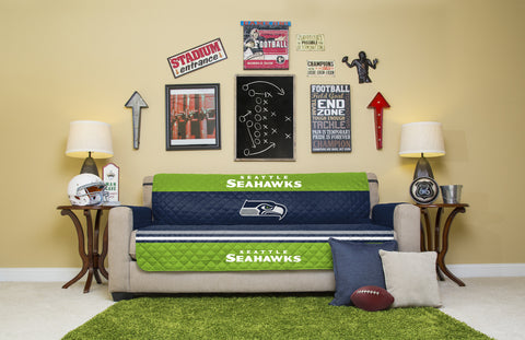 Seattle Seahawks Furniture Protectors with Elastic Straps