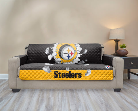 Pittsburgh Steelers Explosion Furniture Protector with Elastic Straps
