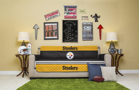 Pittsburgh Steelers Furniture Protectors with Elastic Straps