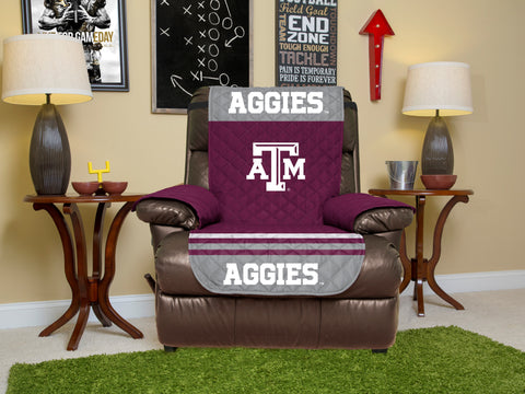 Texas A&M University Furniture Protector with Elastic Straps