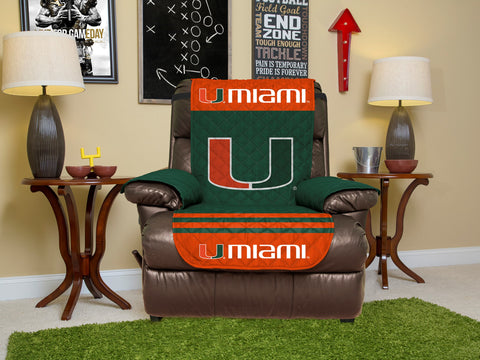 University of Miami Furniture Protectors with Elastic Straps