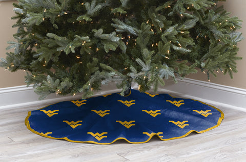 West Virginia University Christmas Tree Skirt