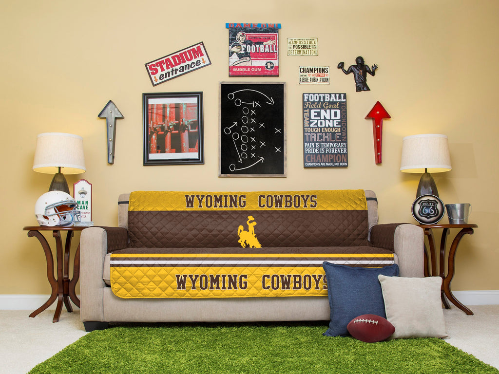 University of Wyoming Furniture Protector with Elastic Straps