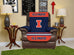 University of Illinois Furniture Protector with Elastic Straps