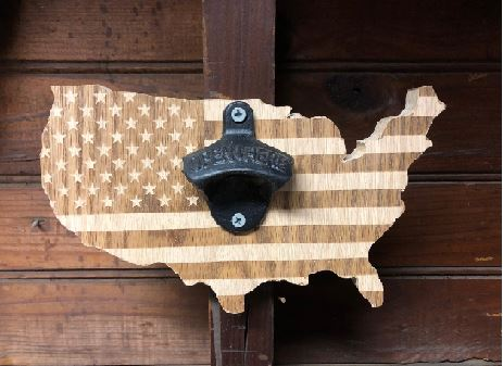 Oakline Design Wall Mounted Bottle Opener