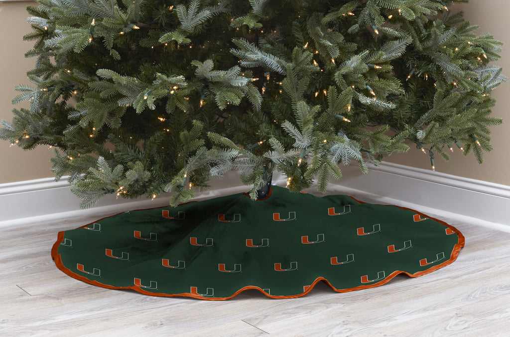 University of Miami Christmas Tree Skirt