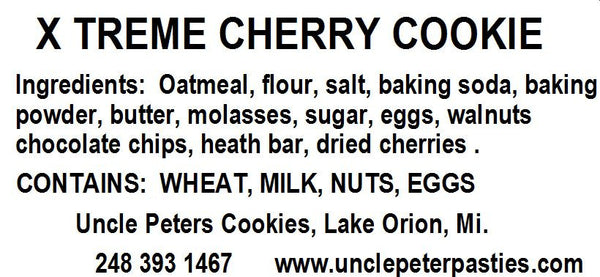 Xtreme! Chocolate Cherry Cookies - Uncle Peter's Pasties