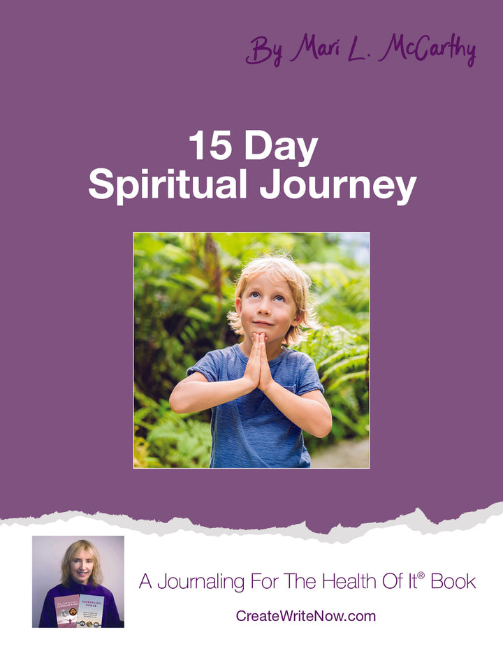 15 Days Spiritual Journey - Instant Download - A Journaling For The Health Of It® Book