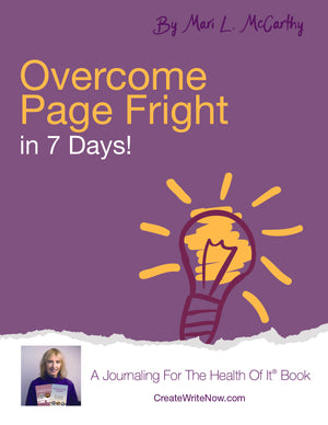 Overcome Page Fright - Instant Download - A Journaling For The Health Of It® Book