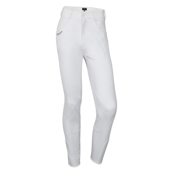 Harcour Mens Orient White knee grip competition breeches