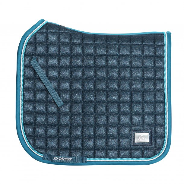 SD Design Hollywood Glamorous Saddlepad Blue Lagoon Glitter