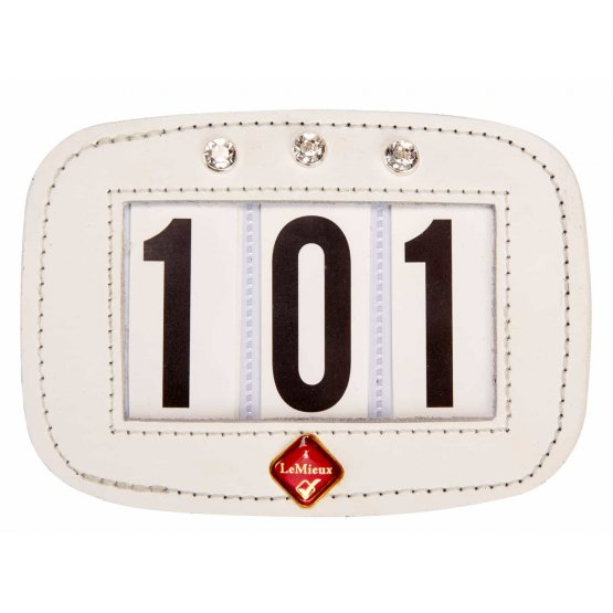 Hamag LeMieux Saddle Pad Number Holder Diamonte White